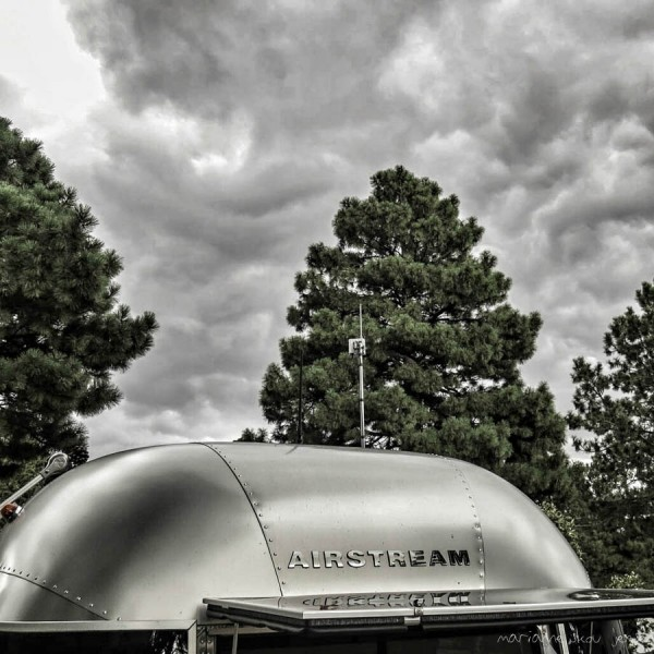 HDR processing on this image of the Airstream and impending storm