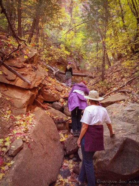 A hike with friends in a side canyon at Slide Rock State Park. (smartphone)