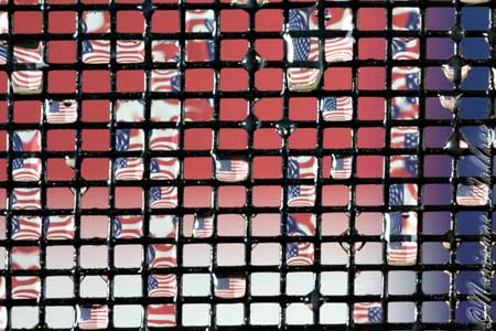 flag in water drops
